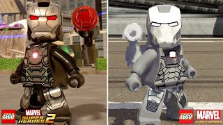 LEGO Marvel Superheroes 2 vs LEGO Marvel Super Heroes Characters (Side by Side Comparison) Part 3