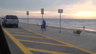 Motorized Bike 2 Strokin Galveston Seawall
