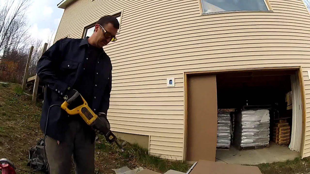 building custom cheap garage doors 119 my diy garage build hd time lapse youtube