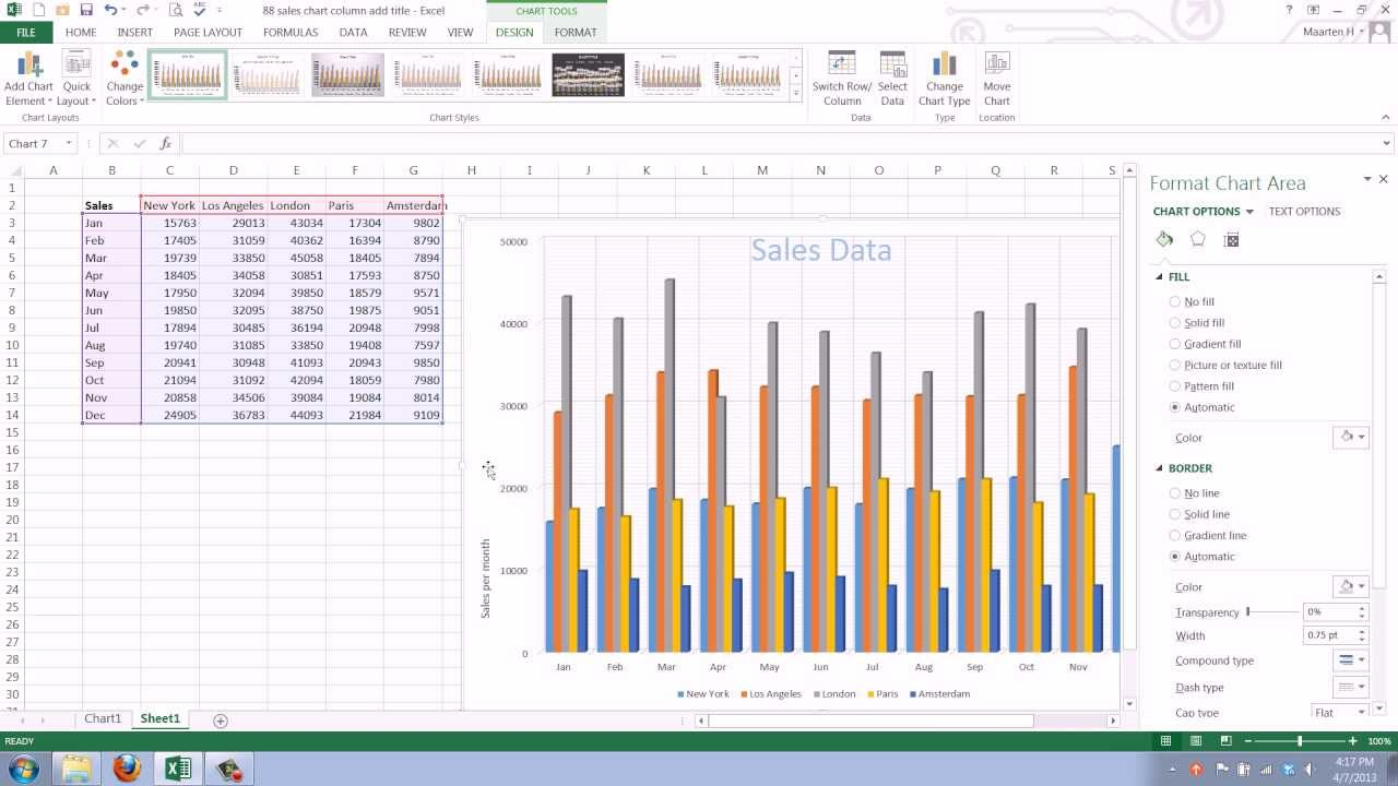 How to add and change gridlines in your excel 2013 chart youtube ccuart Gallery