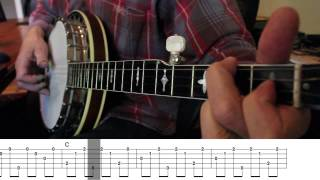 Beginning Bluegrass Banjo - Lesson 12 - A simple version of Worried Man Blues using only one