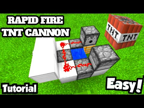 Ultra RAPID-FIRE Tnt Cannon! - Minecraft Tutorial (FAST & EASY!)