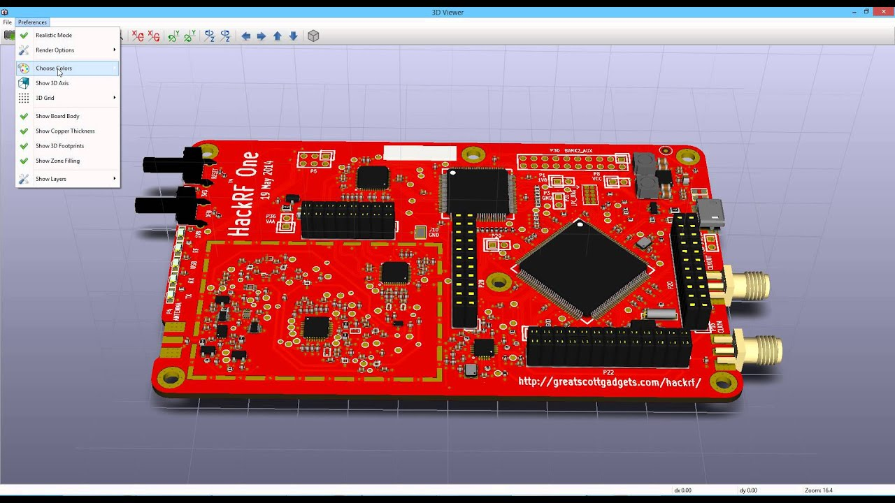 3DViewer Features | KiCad EDA