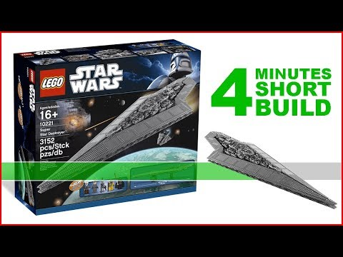 LEGO STAR WARS 10221 Super Star Destroyer 4 Minutes Fast Build - Exclusive For Collectors