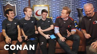 "Conan Crashes The Team Coco x Google Play  ""Clash Royale"" Stream  - CONAN on TBS"