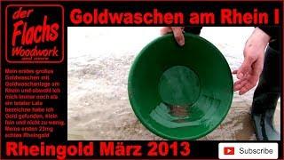 Goldwaschen am Rhein Rheingold Deutschland, Germany