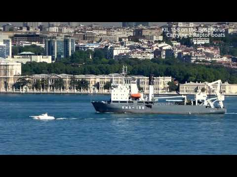 FLOT's Kashtan Class large buoy tender on Bosphorus