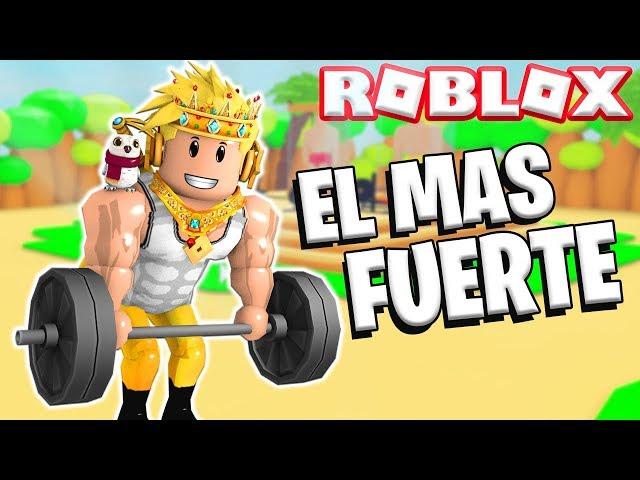 SOY EL MAS FUERTE DE ROBLOX 💪 🥵 *SIMULADOR DE FUERZA* | RODNY