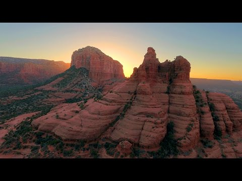DJI Phantom 4 Unedited 4K Sample Drone Footage (Aerial Shots of Sedona Arizona)