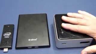 Three Mini PCs compared