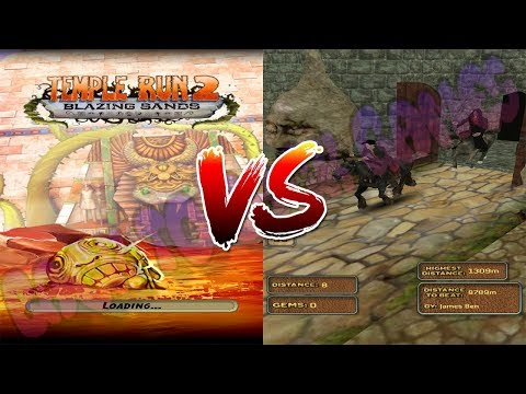 Temple Run 2 vs Temple Horse Run 3D Gameplay For All Kids And Babies