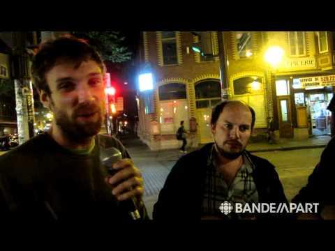Le trio post-punk français Cheveu dans St-Roch à Québec : breuvage