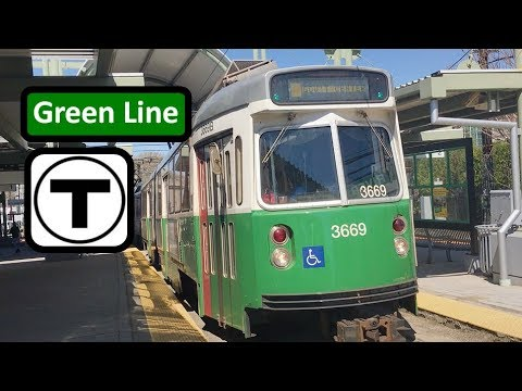 "【MBTA】Green Line ""D"" Front View - Time Lapsed POV from Riverside to Government Center"