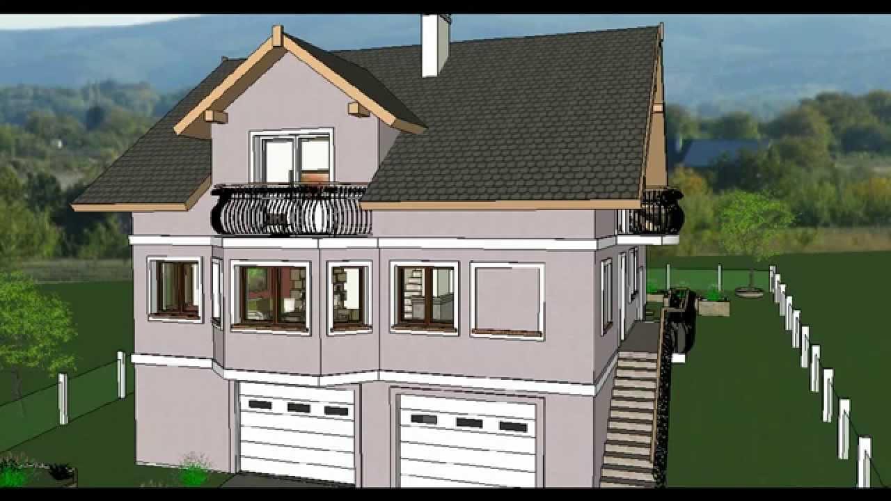 MODEL E-4 by ALIQUANTUM DOO, Porodična kuća P+1+Pk, P=200 m2, 5 soba ...
