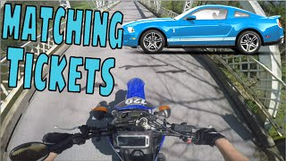 Mustang and Motorcycle Pulled Over by Police! Matching Tickets!! All His Fault (3/3)