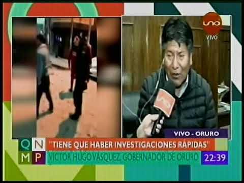 Gobernador de Oruro, Viceministro de Salud y Ministro Carlos Romero Explosiones Oruro