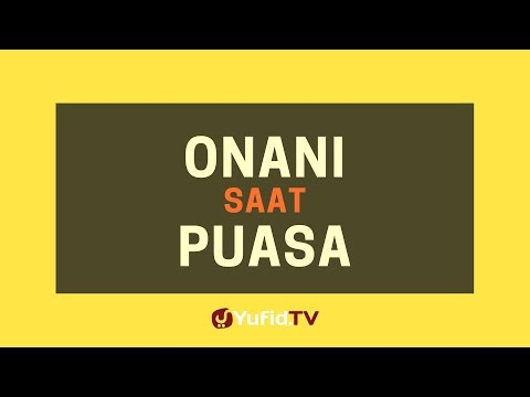 Hukum Onani Saat Puasa – Poster Dakwah Yufid TV thumbnail