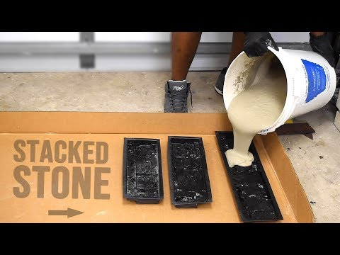 How to make Concrete Stacked Stones ( Homemade Wall Stones )
