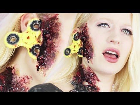 FIDGET SPINNER ACCIDENT Make-Up Tutorial