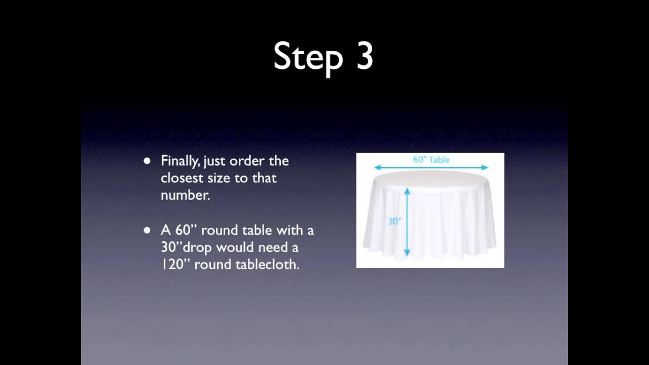How To Size Round Tablecloths