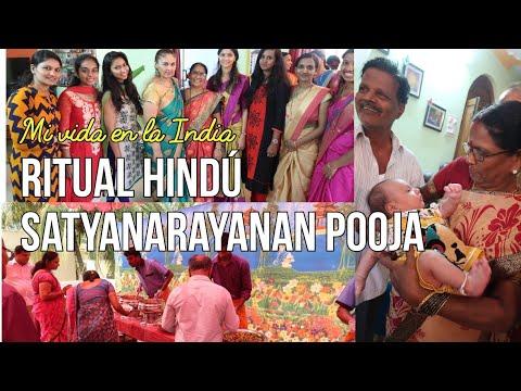 Ceremonia Hindú Satyanarayanan Pooja. Ceremonia de nombramiento. Mi vida en la India.