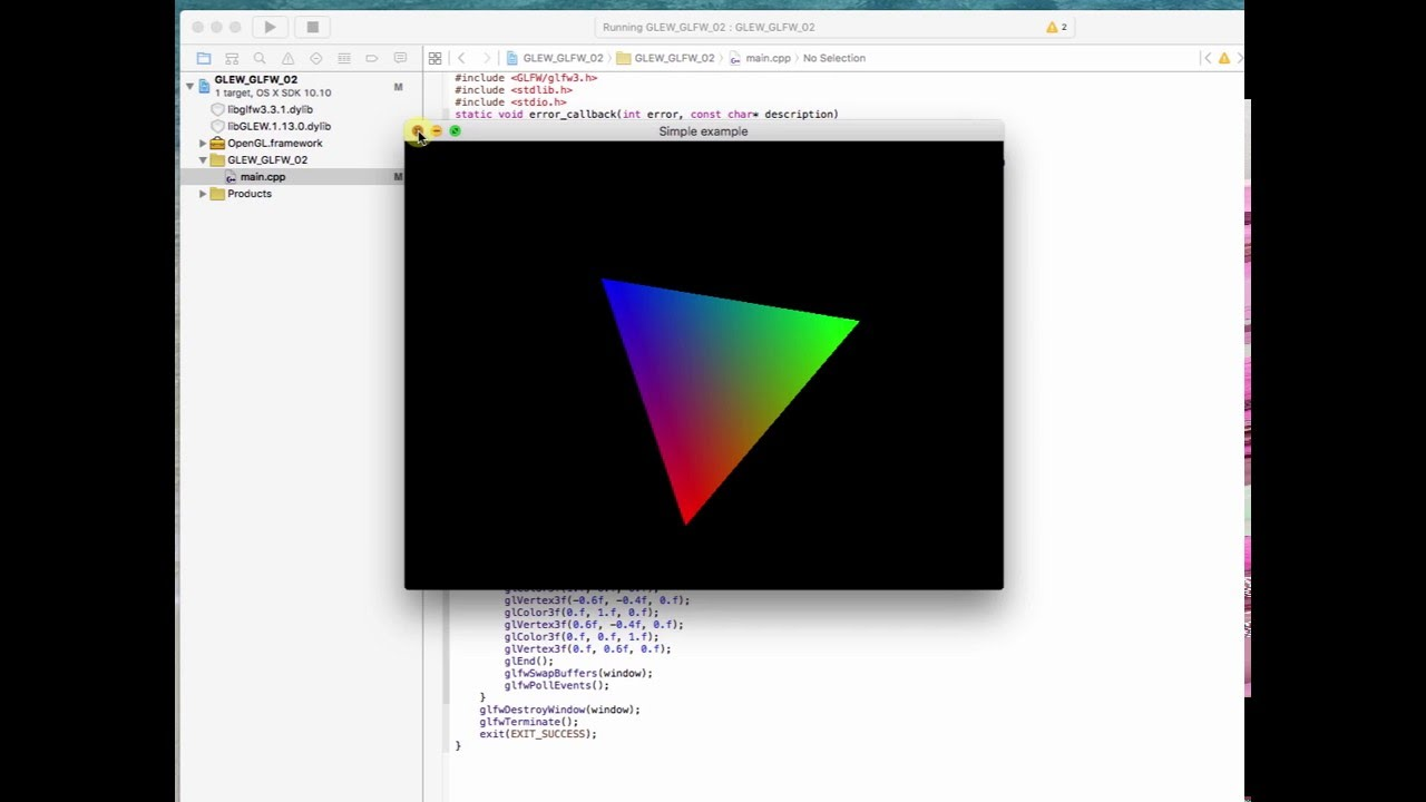 mac os x c++ opengl tutorial