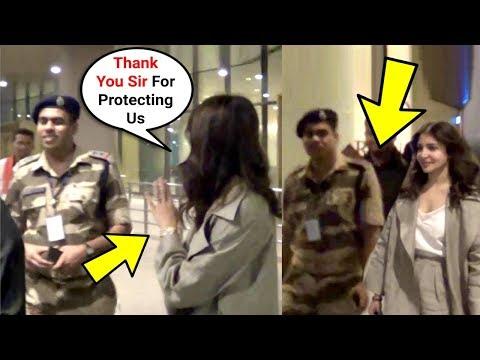 Anushka Sharma Sweet Gesture Towards Army Soldier At Airport Mp3
