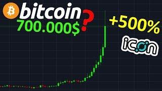 BITCOIN À 700.000$ - ICX +500% BOUM !? btc analyse technique crypto monnaie