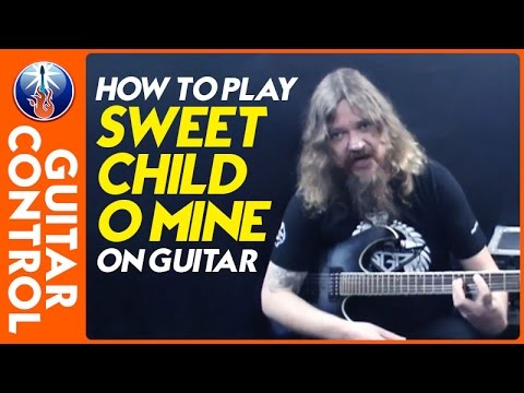 how to play sweet child o mine on guitar guns n roses lesson youtube. Black Bedroom Furniture Sets. Home Design Ideas
