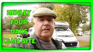 Arrival & walk around HENLEY FOUR OAKS CARAVAN & MOTORHOME CLUB SITE - Oct 2020