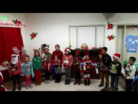Kaylie wins Ugly Christmas Sweater Contest at Orchard Dale Elementary School