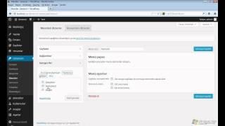 Wordpress'te Menü Oluşturma