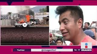 Habitantes de San Juanico negocian para reabrir la México-Pachuca   Noticias con Yuriria Sierra