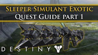 Destiny - How to get the Sleeper Simulant Exotic Heavy weapon Part 1
