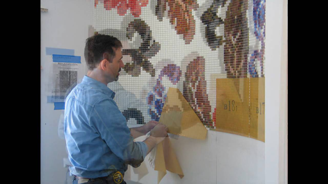 Installing Bisazza Glass Mosaic Tile Youtube