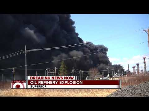 Explosion rocks Superior, Wisconsin refinery; fire chief says at least 11 people hurt