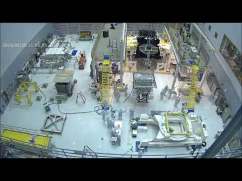 Time-lapse: Webbcam View of James Webb Space Telescope Instrument Installation