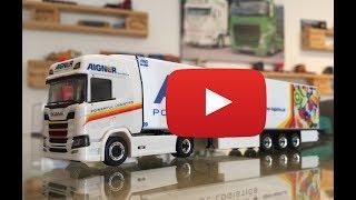 Herpa Aigner Transporte Scania CR20HD Kühlkoffer Sattelzug 933063 Lkw Modelle TRUCKMO