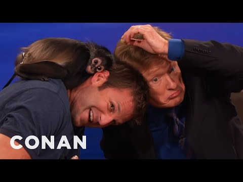 Animal Expert Dave Salmoni: Spider Monkey And Coyote Pup  - CONAN on TBS