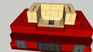 Masonry stove - soba clopote aer secundar