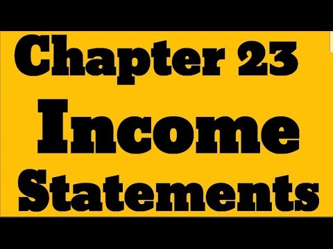Igcse Business Studies Chapter 23 Quot Income Statements