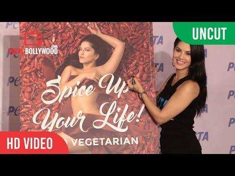 UNCUT - Sunny Leone   Peta India Campaign   World Environment Day
