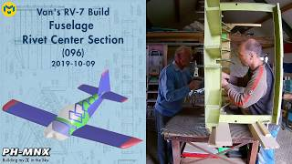 Van's RV-7 Build Fuselage Rivet Center Section (096)