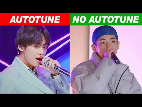 KPOP IDOLS AUTOTUNE VS NO AUTOTUNE MV vs