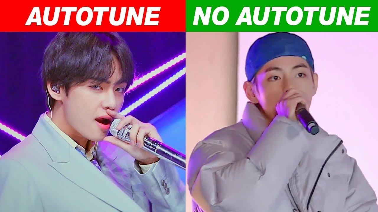 Kpop Idols Autotune Vs No Autotune Mv Vs Live Youtube