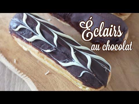 Éclair-au-chocolat-facile-et-rapide-#éclair#éclairauchocolat#recette#yummy#chocolat#delicious-🍫