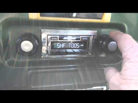 custom autosound usa 630 radio in my 72 c10 youtube. Black Bedroom Furniture Sets. Home Design Ideas