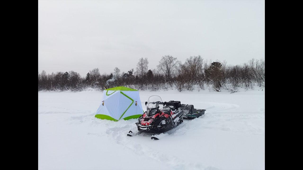 Рыбалка на мичуринском озере зимой