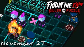 Friday the 13th Killer Puzzle Daily Death November 27 2020 Walkthrough