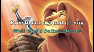 I Just Cant Wait To Be King - Karaoke W/Lyrics (HQ)